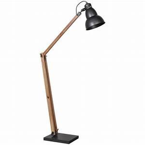 Lampadaire Bois Et Blanc : lampadaire architect m tal et bois achat ~ Dailycaller-alerts.com Idées de Décoration