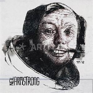 """Gnorts Mr Neil! – Portrait of Astronaut Neil Armstrong ..."
