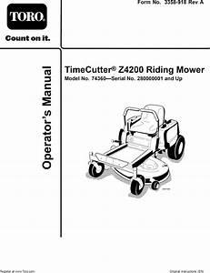 Toro 74360  280000001 280999999  User Manual Riding Mower