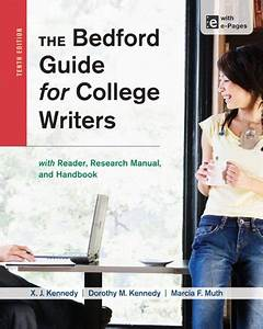 9781457631047  The Bedford Guide For College Writers With