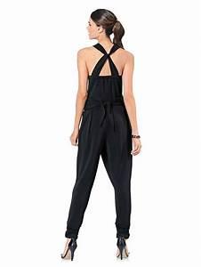 combinaison noire femme fluide dos drape collection With combinaison sous vêtement femme