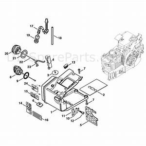 Stihl 020 Chainsaw  020t  Parts Diagram  Tank Housing 020 T