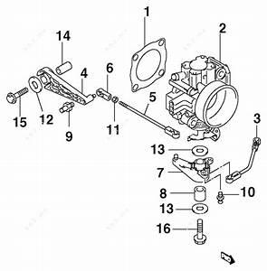 Johnson 2003 70 - J70pl4stc  Throttle Body