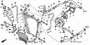 Honda Motorcycle 2004 Oem Parts Diagram For Radiator  1