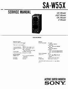 Sony Sa-w55x Service Manual