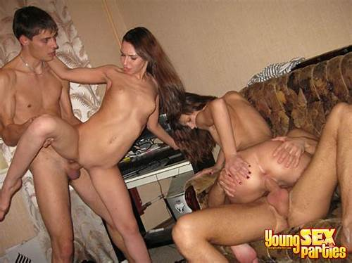 Threesome Exciting Young Chicks Are Pleasuring Sultry Foursome
