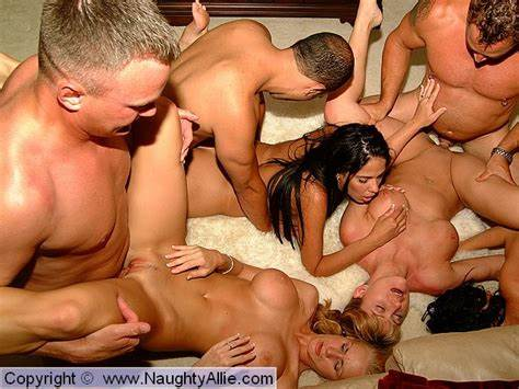 Naughty Caucasian Babe Gangbanged By Masked Boys