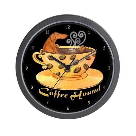 Coffee hound bettendorf, located in bettendorf, iowa, is at devils glen road 3451. Coffee Hound Wall Clock by Dogs, Cats, Creatures and Critters by Terry Pond - CafePress