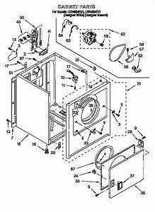 Whirlpool Model Ler4634eq1 Residential Dryer Genuine Parts