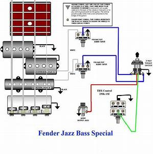 Jazz Bass Special Wiring Diagram  With Images