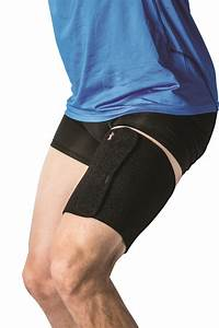 Black Thigh Wrap Supports  1 Or 6 Count By Core Products