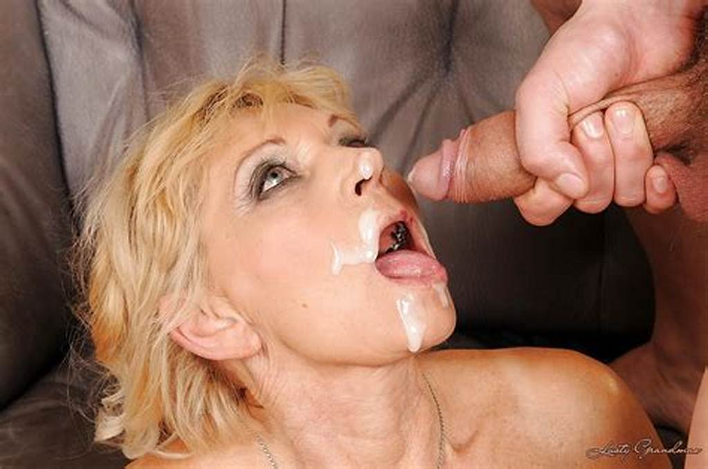 #Blonde #Granny #Gets #A #Facial #Cumshot #After #Hardcore #Fucking