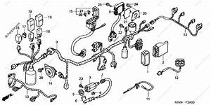 Honda Scooter 2004 Oem Parts Diagram For Wire Harness
