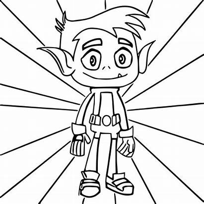 Titans Coloring Teen Pages Boy Beast