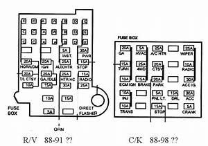 1988 Chevy 1500 Fuse Box Diagram