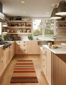 parquet chene massif clair cuisine en bois clair tapis With parquet massif cuisine