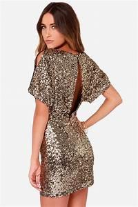 Gold Sequin Dress