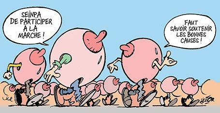 foto de Marche pour les seins Le blog de Régis Hector