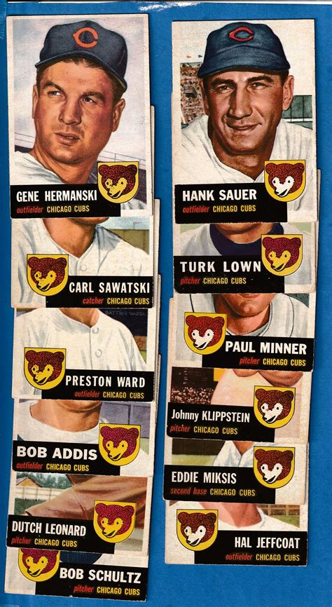 2000 free baseball card appraisals for two more guidelines. 1953 Topps - CUBS - Near Complete Team Set/Lot (12/13)