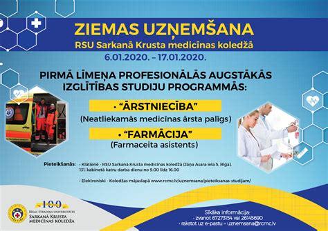 Notiek ziemas uzņemšana RSU Sarkanā Krusta medicīnas koledžā