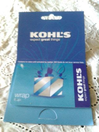 Kohl's card members can earn rewards on purchases through the kohl's cash program. Free: $$$$ $25 KOHLS GIFT CARD $$$$ w/GIN OPTION - Gift Cards - Listia.com Auctions for Free Stuff