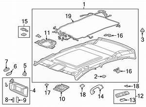 Cadillac Xts Headliner Wiring Harness  W  Sunroof