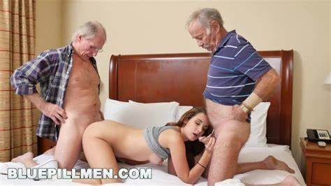 Cumming Old And Younger Chick