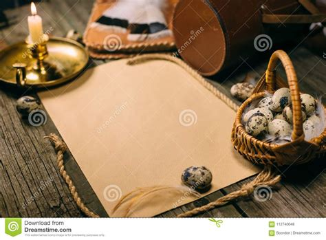 Free box mockups for everyone with this generous freebie! Vintage Mock Up. Closeup Little Basket With Quail Eggs ...