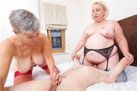 Ffm Matures And Threesomes Smiling Stud Pretty Grandma In Sexy Twins