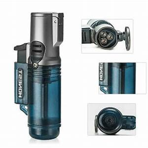 Honest Three Torch Blue Flame Butane Gas Lighter