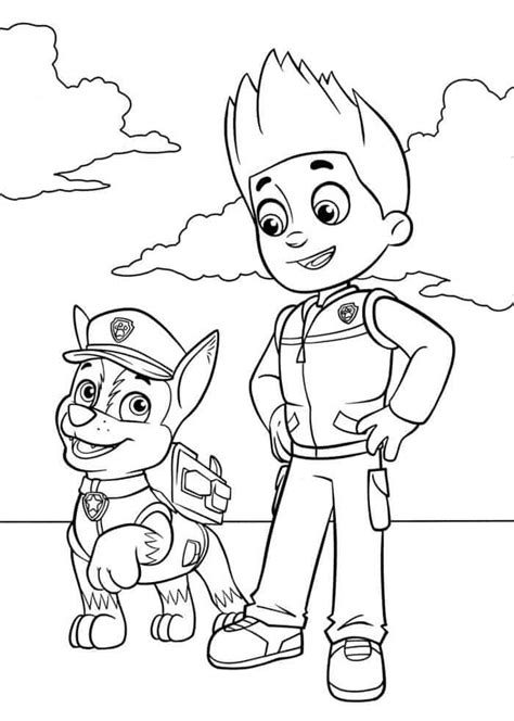 Ryder And Chase Paw Patrol Coloring Pages Paw patrol
