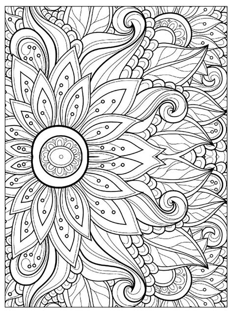 Printable Flower Coloring Pages For Adults See the