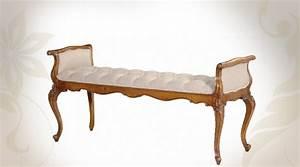 Lit Style Baroque : bout de lit de style baroque assise capitonn e ~ Teatrodelosmanantiales.com Idées de Décoration