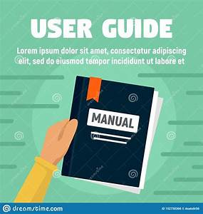 User Guide Manual Concept Banner  Flat Style Stock Vector
