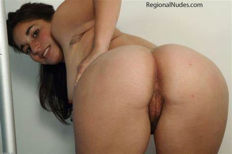Exposed Bum Bending Over Bare Hippie Negress Latino Woman Bush Bent Over