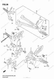 Suzuki Motorcycle 2008 Oem Parts Diagram For Footrest