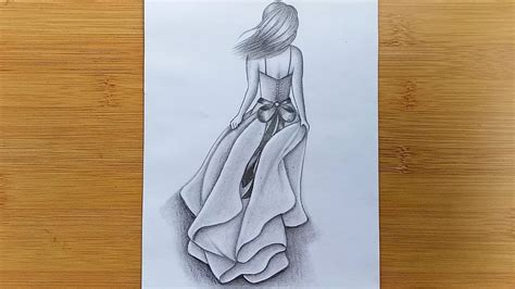 This will help you to think of how to draw. How to draw a Girl with pencil sketch step by step - YouTube