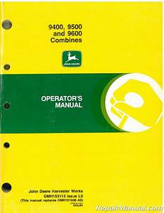 John Deere 9600 Combine Operator Manual Pdf