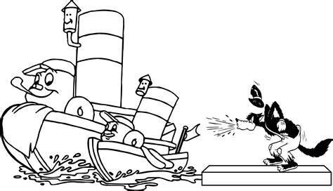 Disney Wolf And Ship Toot Coloring Page Wecoloringpage com