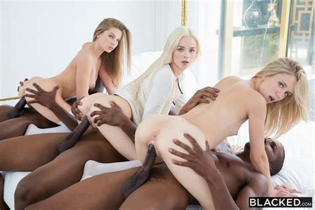 #Elsa #Jean #Shares #Three #Black #Cocks #With #Rachel #James #And