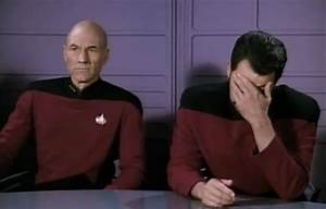 """star trek - Which episode is the """"double facepalm"""" image ..."""
