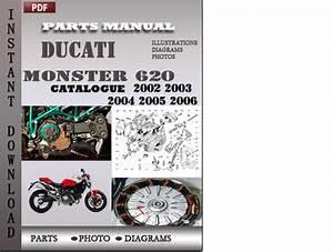 Ducati Monster 620 2002 2003 2004 2005 2006 Parts Manual