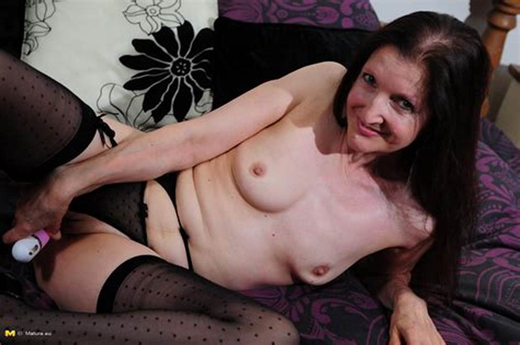 #Thick #Granny #Drills #Own #Shaved #Pussy