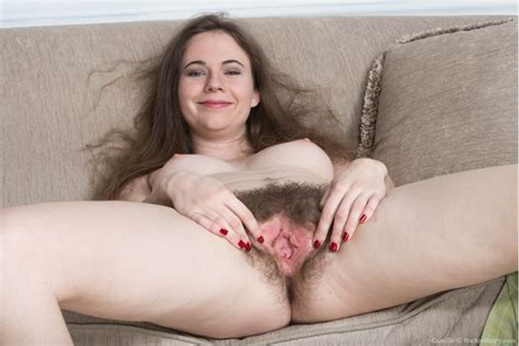 #Camille #Strips #And #Shows #Hairy #Body #On #Couch