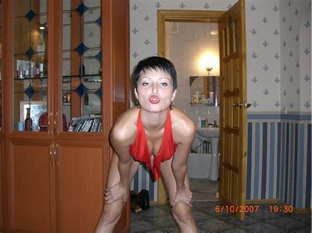 #Short #Haired #Milf #In #Red