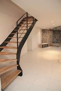 Escalier Moderne Pas Cher : cuisine exciting escalier moderne escalier moderne beton ~ Premium-room.com Idées de Décoration