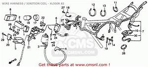 Honda Xl500r 1982  C  Usa Wire Harness    Ignition Coil