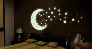 magical glow in the dark bedroom art sunshine and chaos With amazing look with moon and stars wall decals