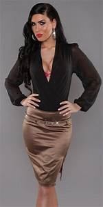 1000 images about satin skirt pencil on pinterest sexy With vêtement femme sexy