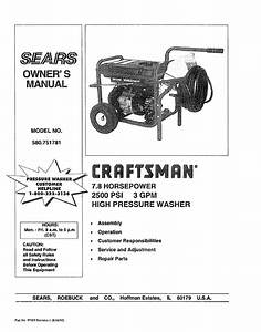 Craftsman 580 751781 User Manual